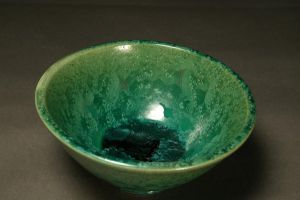 Green Crystalline Bowl by Bubs3-D