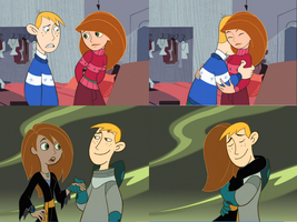! Disney's Kim Possible and Ron Stoppable Hug by 9029561