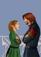WIP  Boromir and Racne CMSN by REQ-Inferno