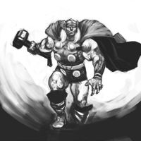 Mighty Thor by Curryz