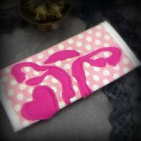 Pretty in Pink: Stitched Uterus Wallet by VulvaLoveLovely