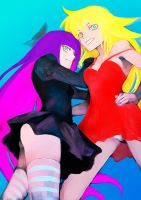 Panty and Stocking speed paint by periwinkleimp