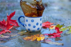 Coffee in the rain by Pamba