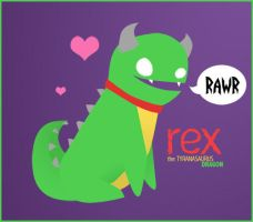 Rex the Dinodragon by Kihtra