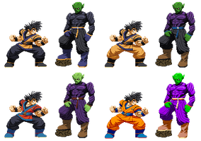 Goku and (King) Piccolo Evolution 2.0 colorplay! by Balthazar321