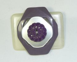 Buckle + Button Brooch by Wabbit-t3h