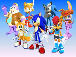 Sonic the Hedgehog SATAM Wallpaper Old Times by 9029561