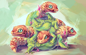 Gecko Cluster by soulwithin465