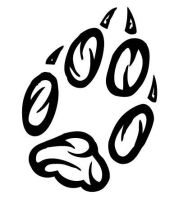 Fox Paw Print Tribal by BaisteachCeilteach