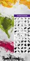 55 Splatters, Smudges, Splashes Photoshop Brushes by env1ro