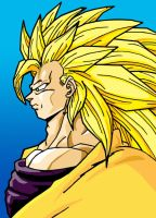 SSJ3 Kakarotto_Colored by VegetasLittleLover