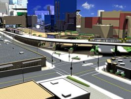 Minneapolis Transportation Interchange Concept by luke314pi