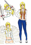 Commission - character sheet - the angel girl by GR-the-queen