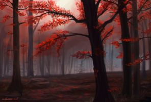 Red Forest by Greykitty