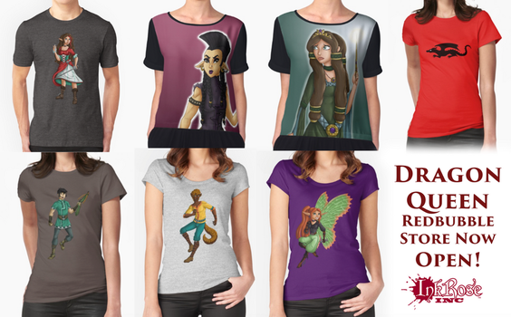 Dragon Queen Redbubble Store Now Open! by InkRose98