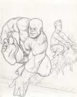 Beast and Iceman - pencils by NMRosario