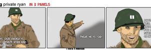 private ryan in 3 panels by Cilmeron