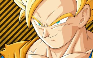 Goku Super Saiyan 2 by BlackLeatherAgiel