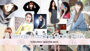 13 Female Ulzzang Stock Pack by LadyComma