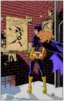 Batgirl Commission Colors by spicypeanut