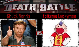 Chuck Norris vs Tottemo Luckyman by SonicPal