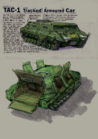 TAC-1 Tracked Armoured Car by Bristow-Bailey