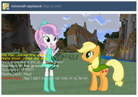 Minecraft Applejack! (Ask the EQG Crusaders!) by CookeyKoopa