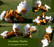 Huge Floppy Arcanine Plushie by racingwolf