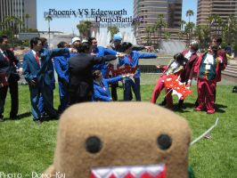 Phoenix Vs Edgeworth - AX2007 by RedDrakeKai