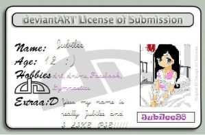 Yes a deviant ID card by Jubilee98