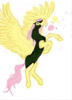 colorized Realistic Fluttershy armored progress by Pwnyville