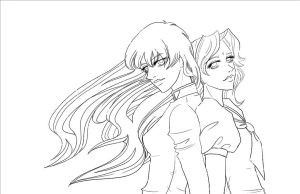 Utena and Anthy - Inks by telophase