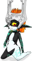 Midna in a Collar by AniManga21