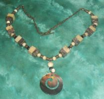 Sea Spiral Neckalce 1 by Windthin