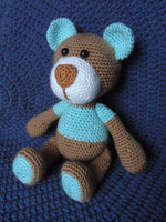 Crocheted Teddy Bear by Revenia