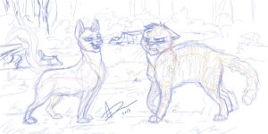 Go Away Squirrelpaw (SKETCH) by AmyVsTheWorld