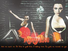 Amy Lee Wallpaper by ALoveHateRomance