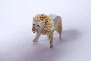 Tiny Paper Zoo - Lion by kamibox