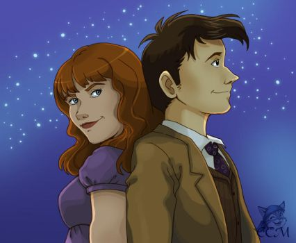 DW: The Doctor and Donna by MiasOtherFanart