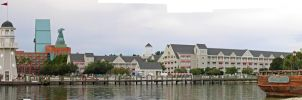 Yacht Club Panorama by AreteStock