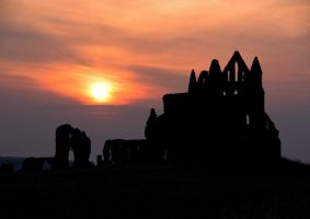 Whitby Abbey Sunset by irwingcommand