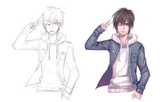 Line art and color by LengYou