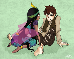 Human Toothiana and Jackson Overland Frost by jollychee