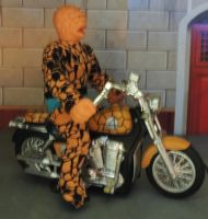 MEGO THING and his MOTORCYCLE by monitor-earthprime