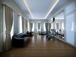 Fitness room, ind by CallsterShade