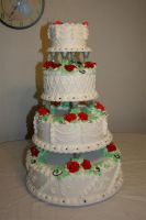 Wedding Cake in Black and Red by neaters2000