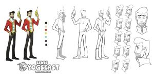 Yogscast Model Sheet : Lewis by Nina-Serena
