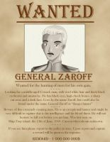 WANTED -- General Zaroff by Sheena-X-Zelos