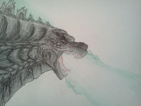 GODZILLA AND HIS ATOMIC BREATH by Kongzilla2010