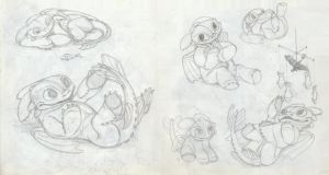 Toothless Baby Doodles1 by DanGref